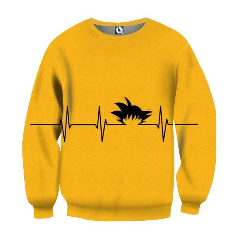 Dragon Ball Kid Goku Heart Beat Symbol Cool Creative Design Sweatshirt