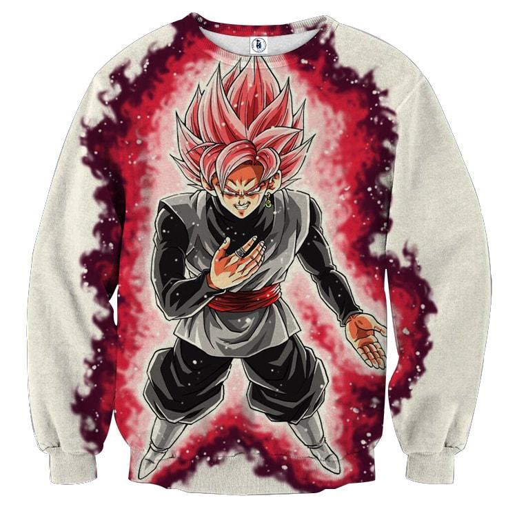 Dragon Ball Super Black Goku Rose 2 Super Saiyan Sweatshirt