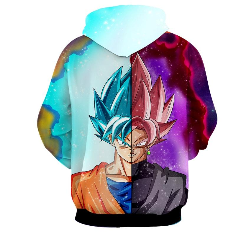 Dragon Ball Z Super Black Goku Rose 2 Blue Cool Hoodie