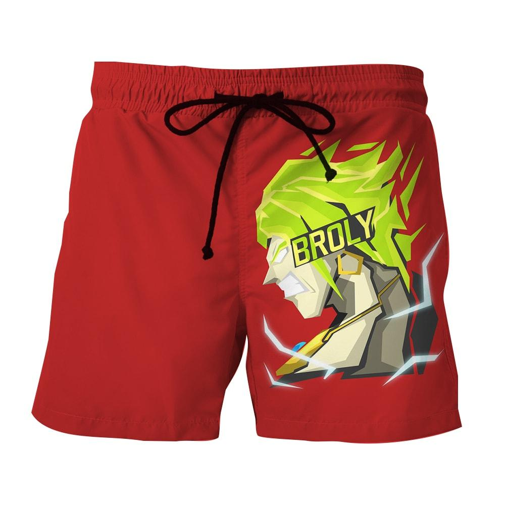 Dragon Ball Super Cool Legendary Broly Vector Art Boardshorts