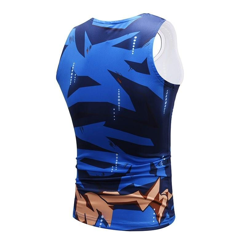 Dragon Ball Super Epic Son Goku Bruised Outfit Compression Tank Top