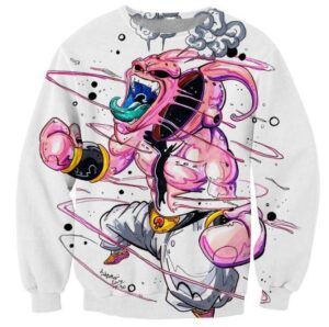 Dragon Ball Super Mad Kid Buu Graffiti Style Sweatshirt - Saiyan Stuff