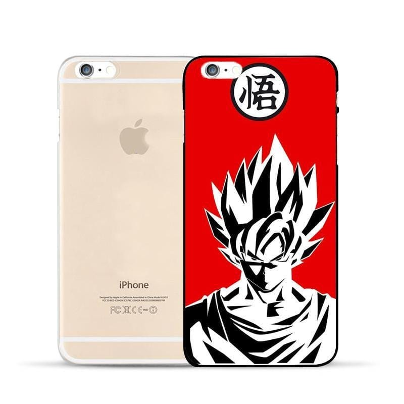 Dragon Ball Super Saiyan Black & White Goku Hard PC iPhone 5 6 7 s Plus Case