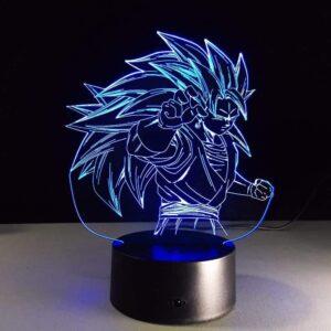 Dragon Ball Super Saiyan 3 Vegito Color Changing Acrylic Panel Lamp