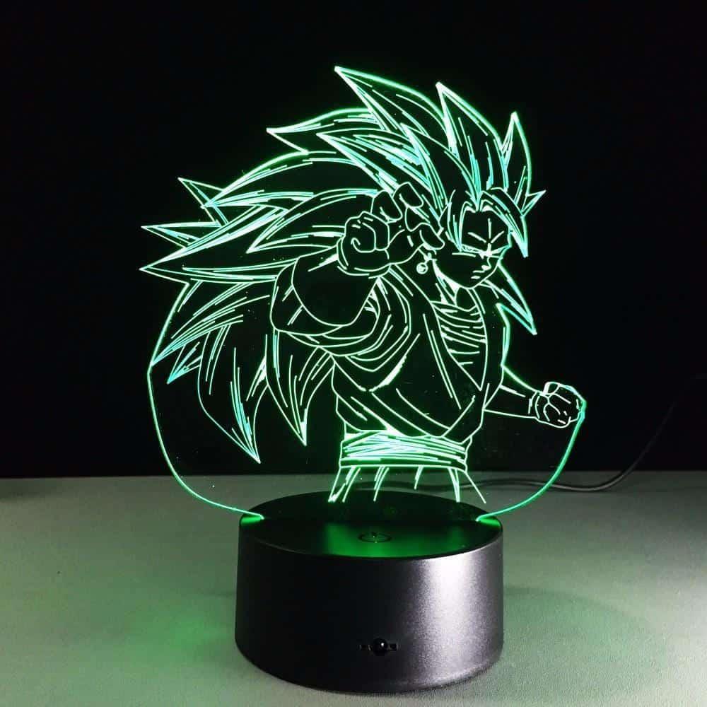 Dragon Ball Super Saiyan 3 Goku Color Changing Acrylic Panel Lamp - Saiyan Stuff - 3
