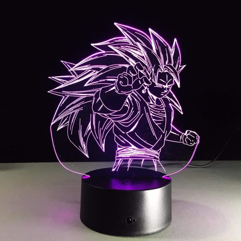 Dragon Ball Super Saiyan 3 Goku Color Changing Acrylic Panel Lamp - Saiyan Stuff - 4