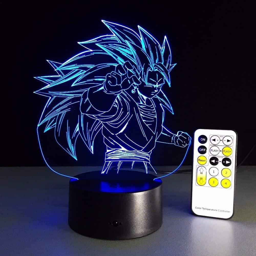 Dragon Ball Super Saiyan 3 Goku Color Changing Acrylic Panel Lamp - Saiyan Stuff - 8