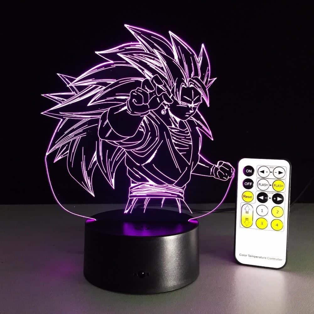 Dragon Ball Super Saiyan 3 Goku Color Changing Acrylic Panel Lamp - Saiyan Stuff - 9