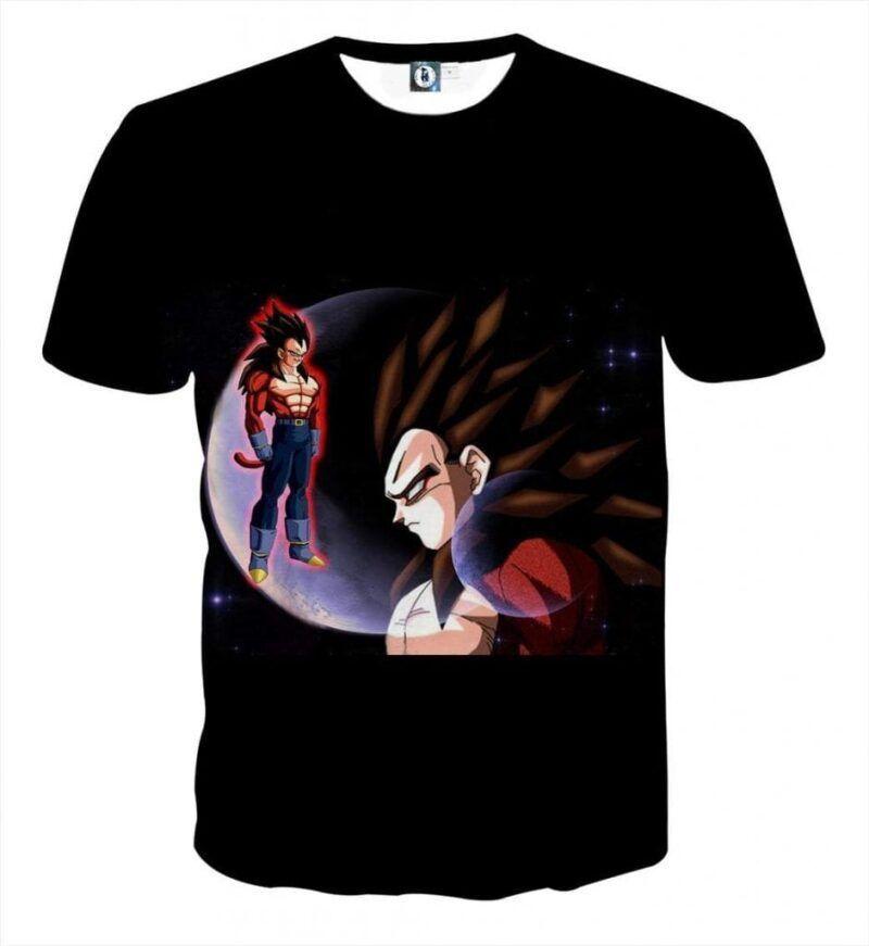 Dragon Ball Super Vegeta 4 Cool Crescent Moon Universe T-Shirt