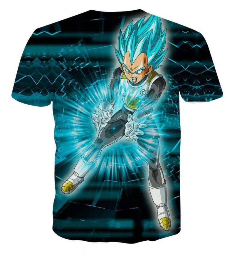 Dragon Ball Super Vegeta Blue Double Galick Gun Epic T-Shirt