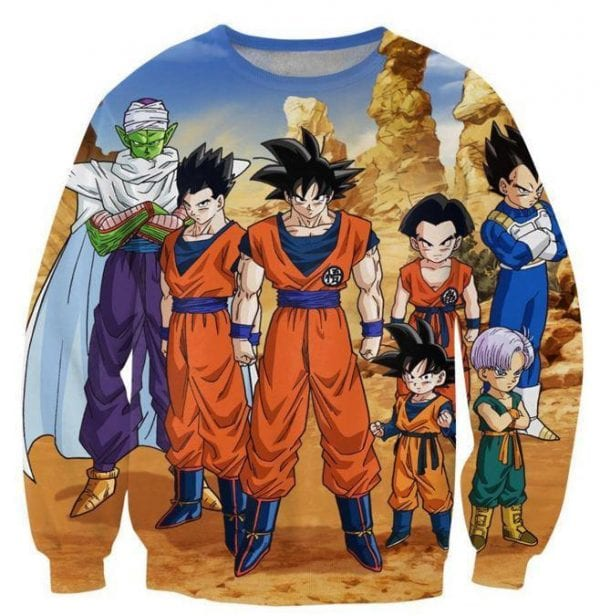 Dragon Ball Z-Fighters Team Earth's Special Forces Sweatshirt - Saiyan Stuff