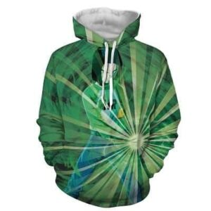 Dragon Ball Z Android 17 Releasing Power Blitz Green Hoodie