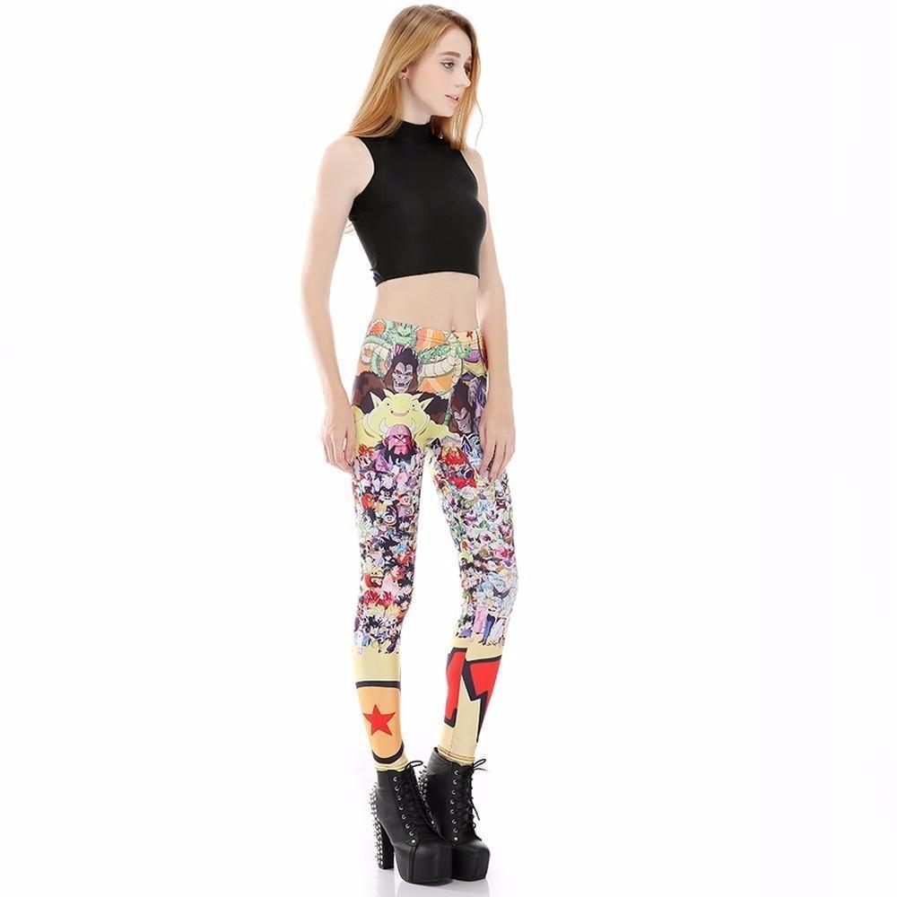 Dragon Ball Z Characters Women Compression Fitness Leggings Tights - Saiyan Stuff - 3