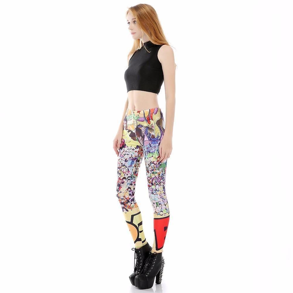 Dragon Ball Z Characters Women Compression Fitness Leggings Tights - Saiyan Stuff - 4