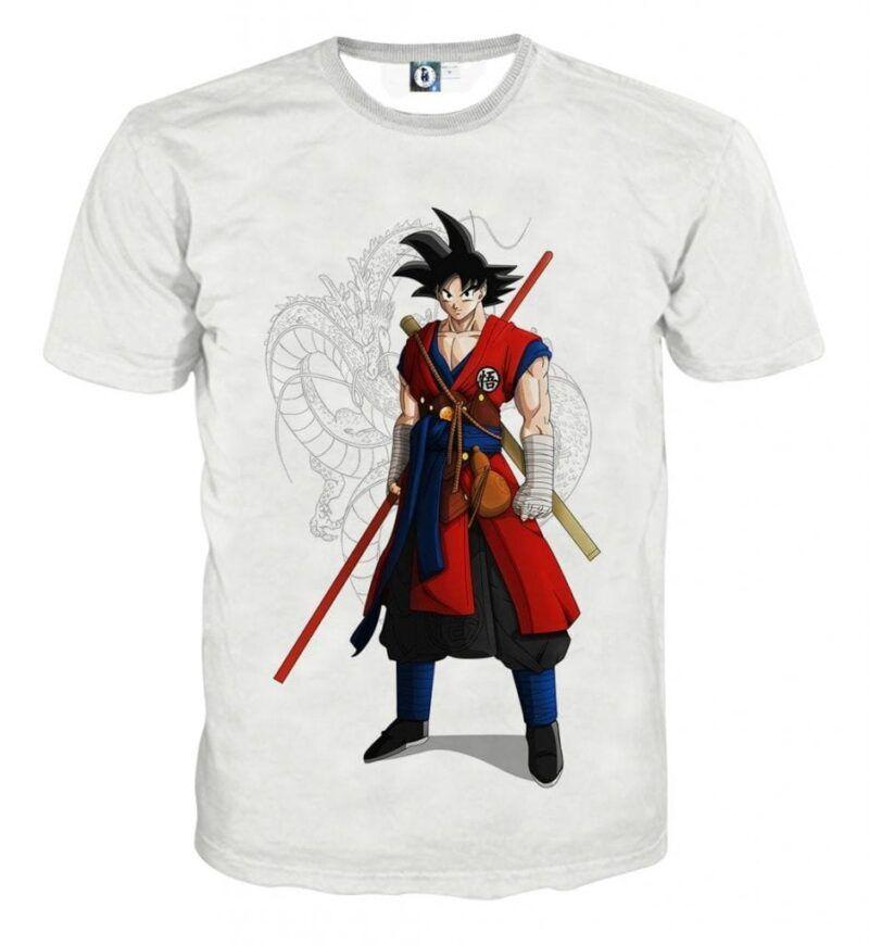 Dragon Ball Z Cool Adult Goku Fighter Attire Shenron T-Shirt