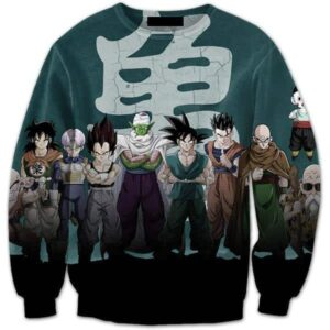 Dragon Ball Z Heroes Dark Black Badass 3D Crewneck Sweatshirt - Saiyan Stuff