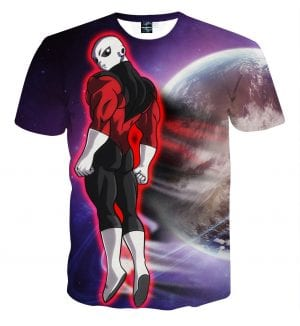 Dragon Ball Z Jiren The Gray Red Aura In Outer Space T-Shirt