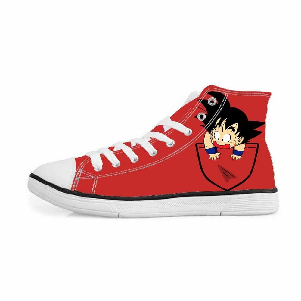 Dragon Ball Z Kid Goku Pocket Cute Red Sneakers Converse