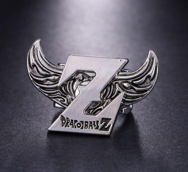 Dragon Ball Z Logo Angel Wings Stainless Silver Ring - Saiyan Stuff