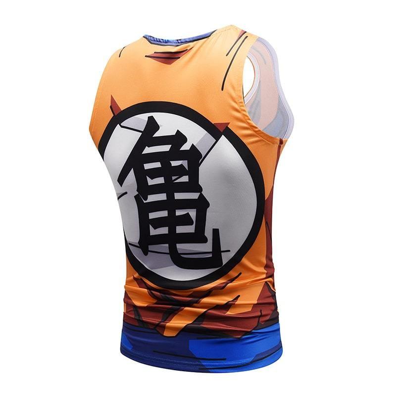 Dragon Ball Z Mighty Son Goku Master Roshi Symbol Compression Tank Top