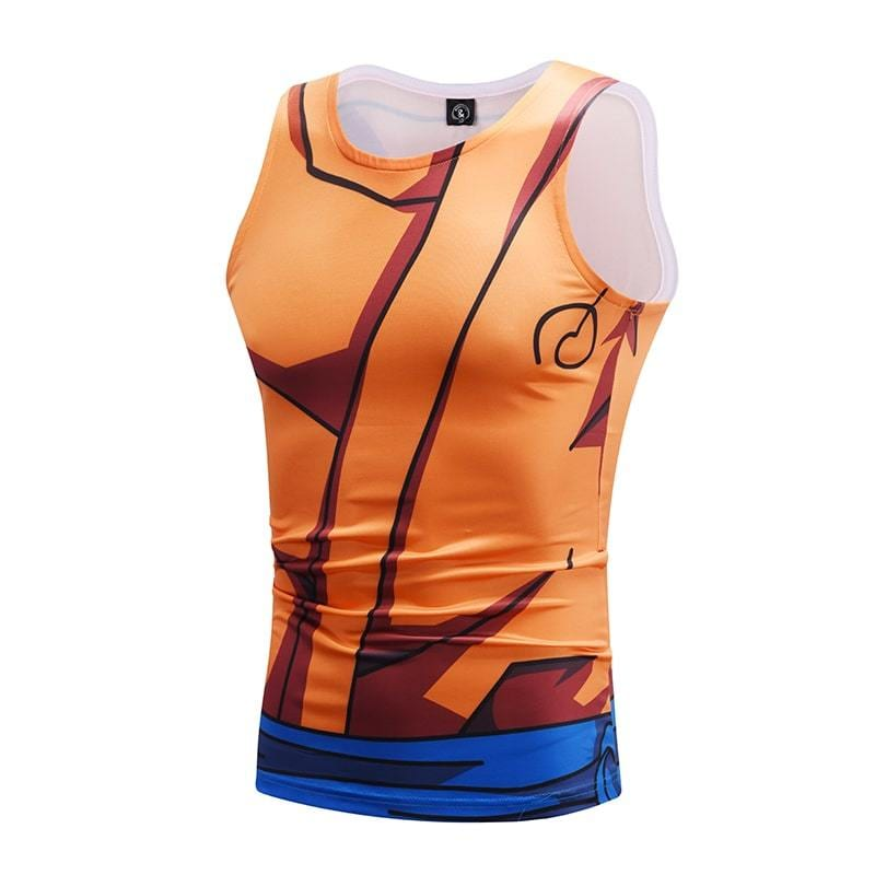 Dragon Ball Z Mighty Son Goku Whis Training Outfit Compression Tank Top