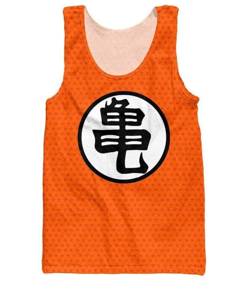 Dragon Ball Z Orange Kame Symbol Goku Master Roshi Tank Top - Saiyan Stuff