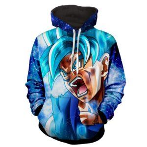 Dragon Ball Z Raging Goku In Super Saiyan Blue Form Hoodie