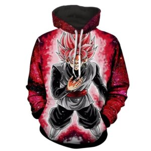 Dragon Ball Z Son Goku Black Super Saiyan Rose Hoodie