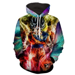 Dragon Ball Z Son Goku Ultra Instinct Colorful Hoodie