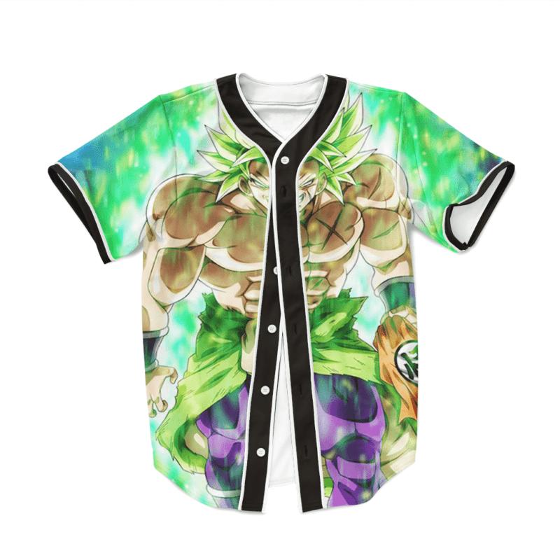 Dragon Ball Z Strong Legendary Saiyan Broly Baseball Jersey