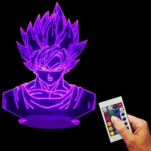 Dragon Ball Z Super Saiyan Son Goku Color Changing Table Acrylic Panel Lamp - Saiyan Stuff - 1