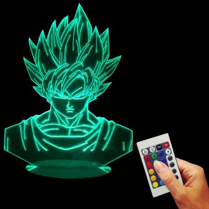 Dragon Ball Z Super Saiyan Son Goku Color Changing Table Acrylic Panel Lamp - Saiyan Stuff - 3