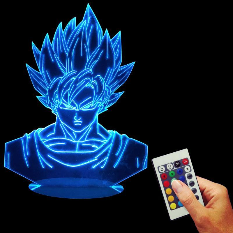 Dragon Ball Z Super Saiyan Son Goku Color Changing Table Acrylic Panel Lamp - Saiyan Stuff - 4