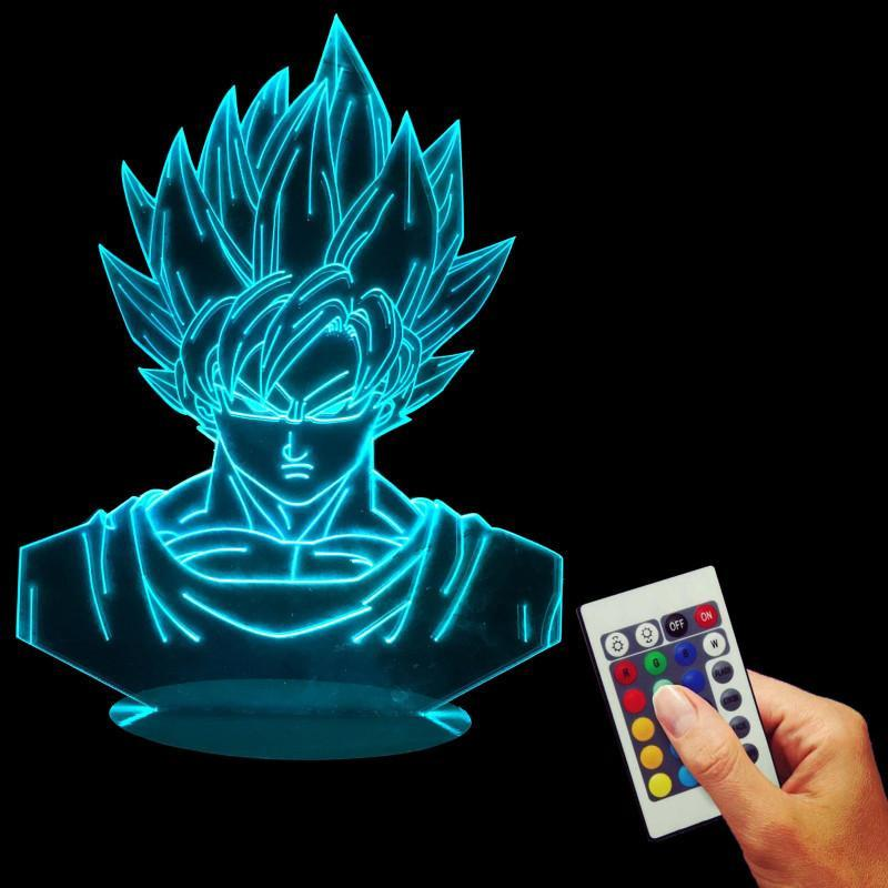 Dragon Ball Z Super Saiyan Son Goku Color Changing Table Acrylic Panel Lamp - Saiyan Stuff - 5