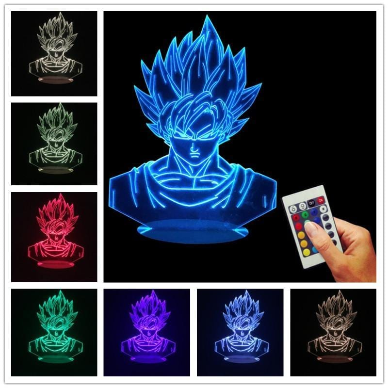 Dragon Ball Z Super Saiyan Son Goku Color Changing Table Acrylic Panel Lamp - Saiyan Stuff - 6