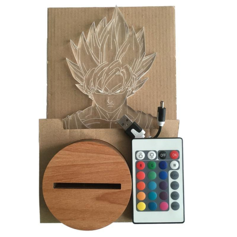 Dragon Ball Z Super Saiyan Son Goku Color Changing Table Acrylic Panel Lamp - Saiyan Stuff - 7