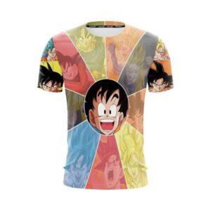 Dragon Ball Z The Fabulous Kid Goku FanArt Design T-Shirt