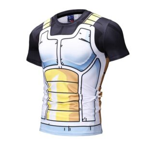 Dragon Ball Z Vegeta Cell Saga Battle Saiyan Armor Compression T-Shirt