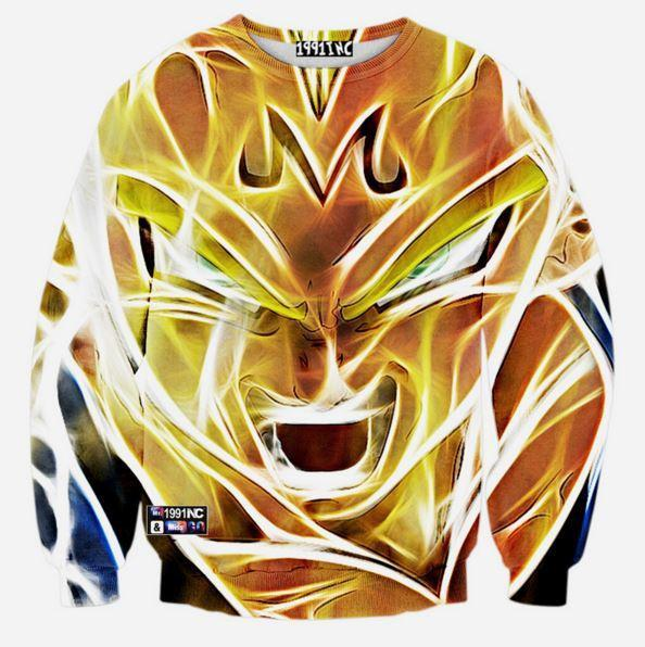 Dragon Ball Z - Super Saiyan Majin Vegeta 3D Sweatshirt - Saiyan Stuff
