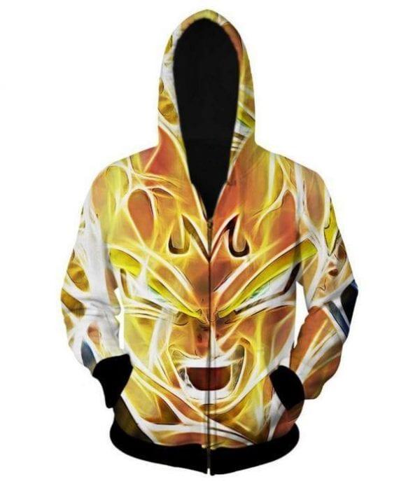 Dragon Ball Z - Super Saiyan Majin Vegeta 3D Zip Up Hoodie - Saiyan Stuff