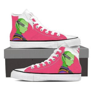 Dragon Ball Zamasu Powerful Serious Cool Pink Sneaker Shoes