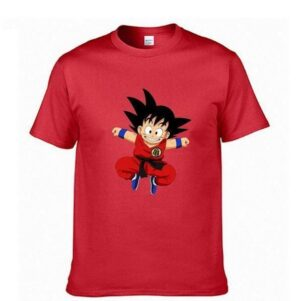 Dragon Ball - Jumping Young & Kid Goku T-Shirt Men or Women - Saiyan Stuff