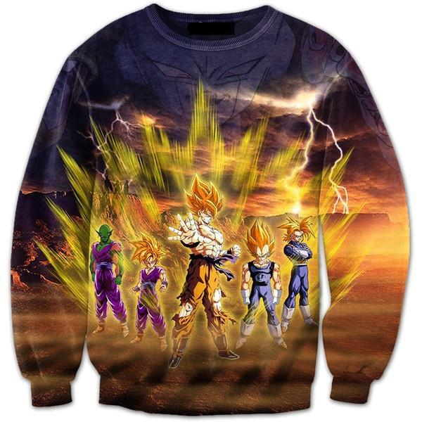 Frieza Super Saiyan Aura Goku Vegeta Gohan Trunks Piccolo Sweatshirt - Saiyan Stuff