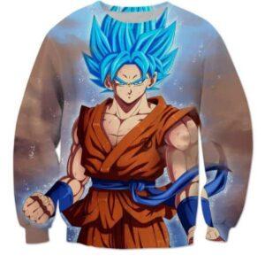 Goku Super Saiyan Blue SSGSS DBZ Cool Sweatshirt - Saiyan Stuff