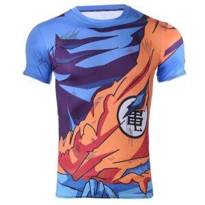 Goku Uniform Outfit Battle Damaged Workout Compression 3D T-Shirt