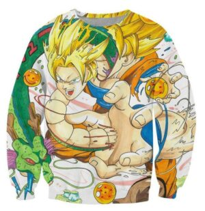 Goku and Shenron Dragon Ball Dope Sweatshirt - Saiyan Stuff