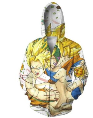 Goku and Shenron Dragon Ball Dope Zip Up Hoodie - Saiyan Stuff