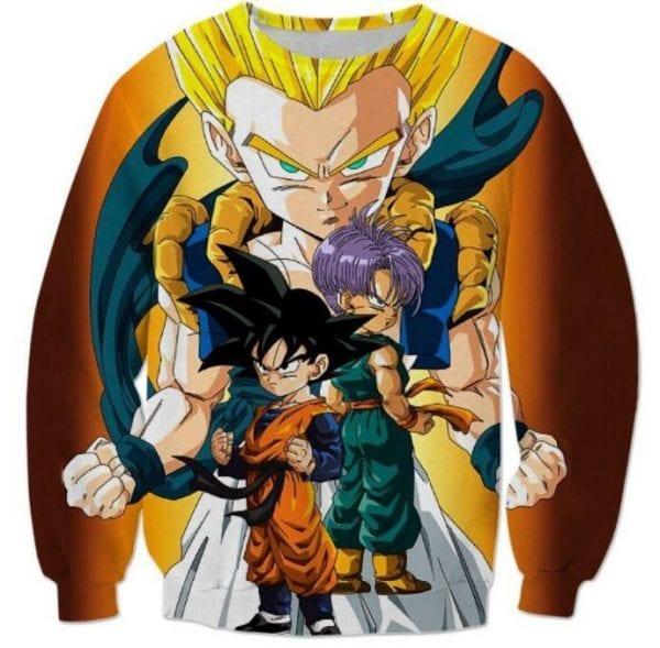 Goten Trunks Gotenks Super Saiyan 3D Sweatshirt - Saiyan Stuff