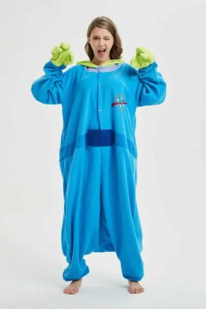 Three-Eyed Monster Onesie Little Green Man Kigurumi Pajama