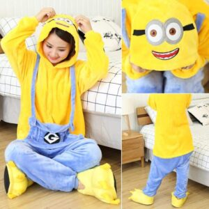 Funny The Minion Onesie Yellow & Blue Kigurumi Pajama
